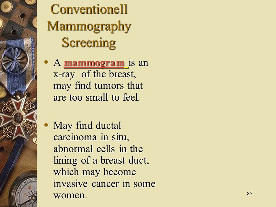 Conventionell Mammography Screening