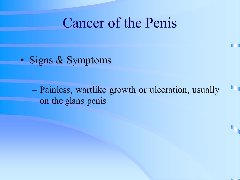 Cancer of the Penis Signs & Symptoms
