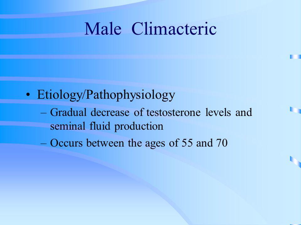 Male Climacteric Etiology/Pathophysiology