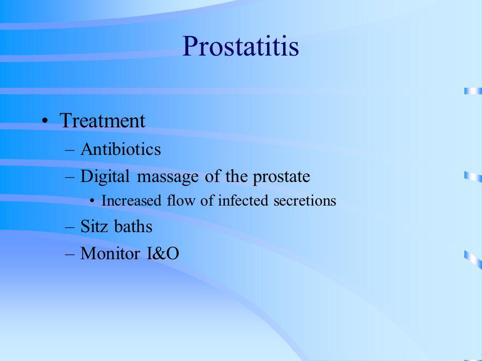 Prostatitis Treatment Antibiotics Digital massage of the prostate