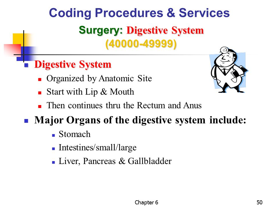 Coding Procedures & Services Surgery: Digestive System (40000-49999)