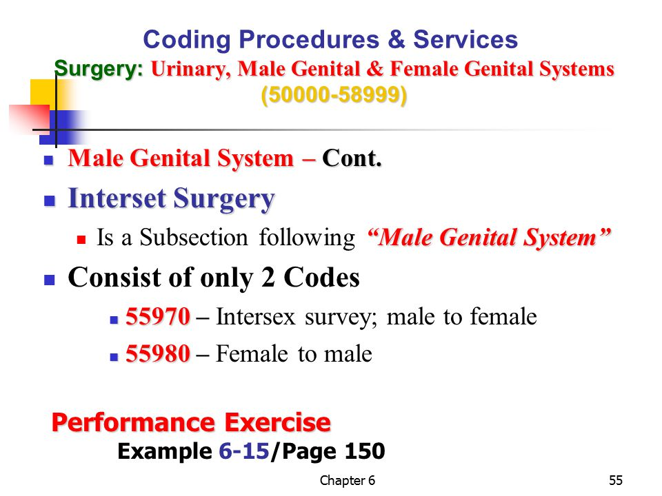 Interset Surgery Consist of only 2 Codes