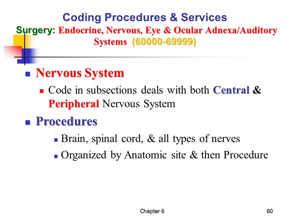 Nervous System Procedures