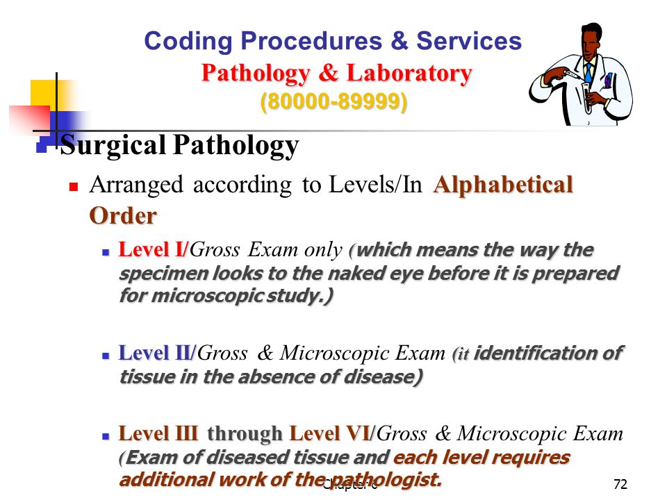 Coding Procedures & Services Pathology & Laboratory (80000-89999)