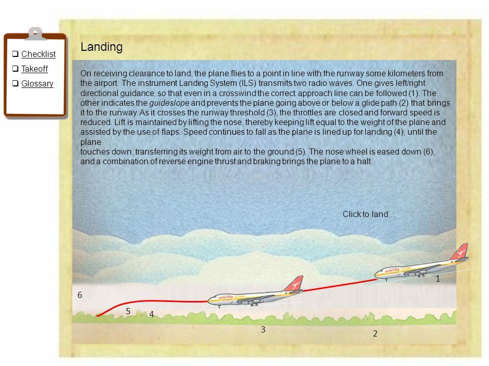 Landing 1 6 5 4 3 2 Checklist Takeoff