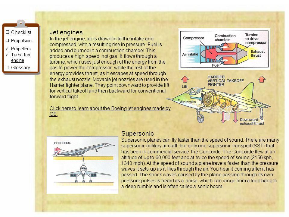 Jet engines Supersonic Checklist