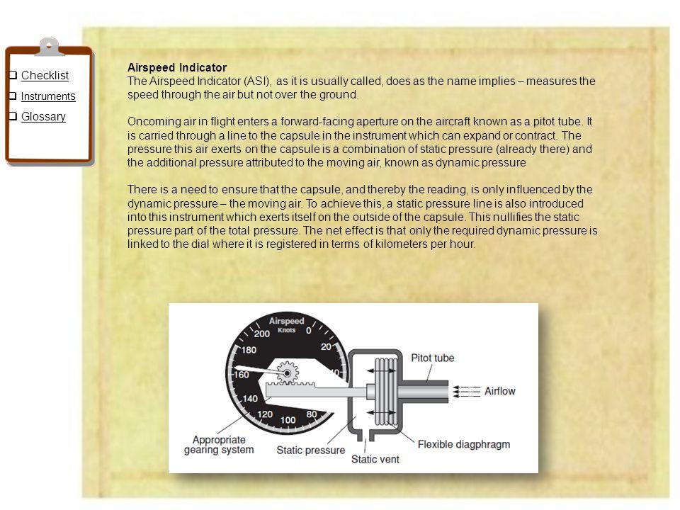 Checklist Airspeed Indicator