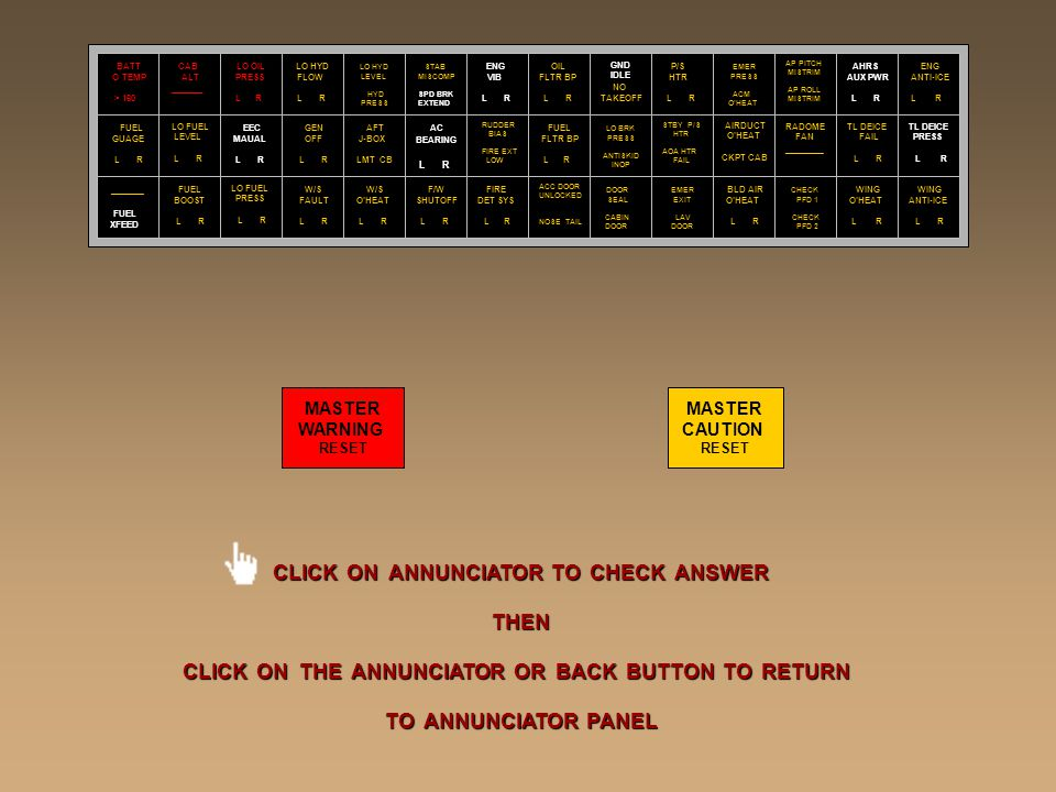 CLICK ON ANNUNCIATOR TO CHECK ANSWER THEN