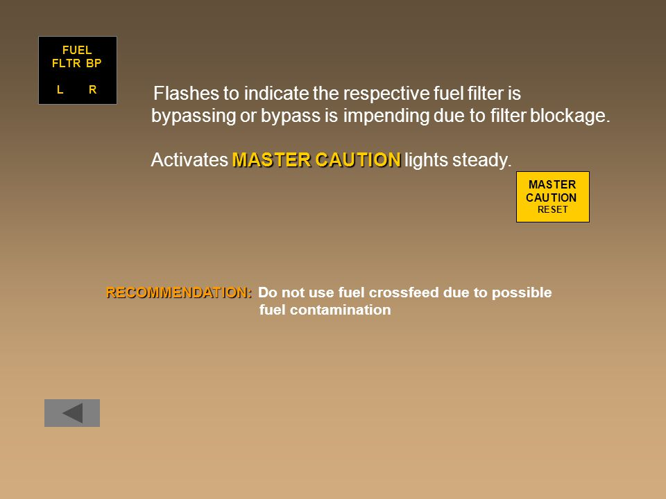 bypassing or bypass is impending due to filter blockage.