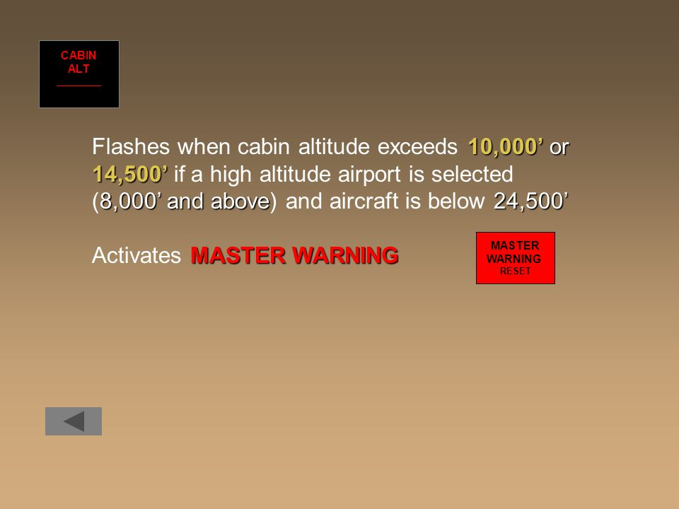 (8,000' and above) and aircraft is below 24,500'