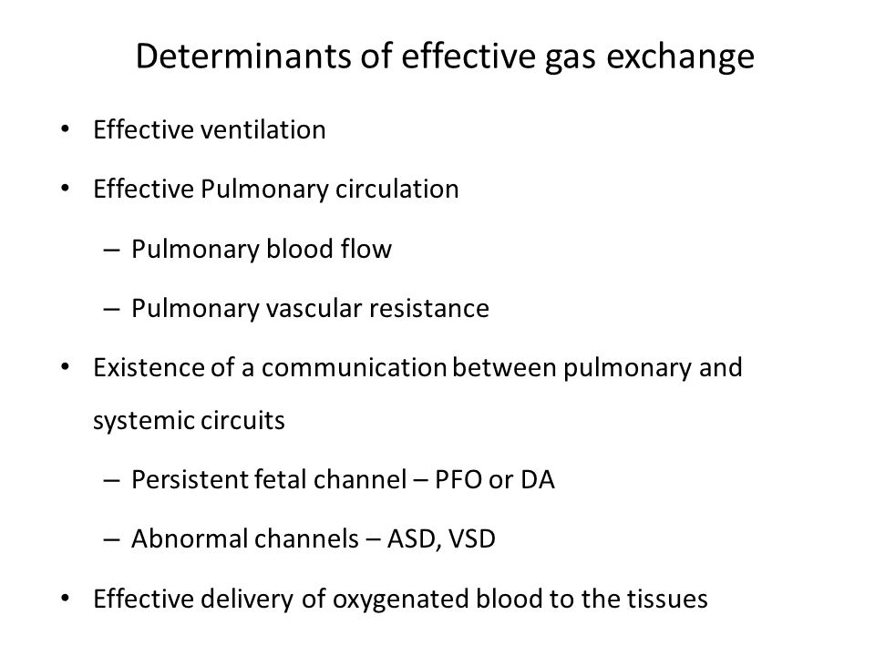 Determinants of effective gas exchange
