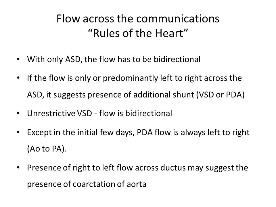 Flow across the communications Rules of the Heart