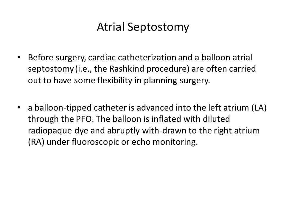 Atrial Septostomy