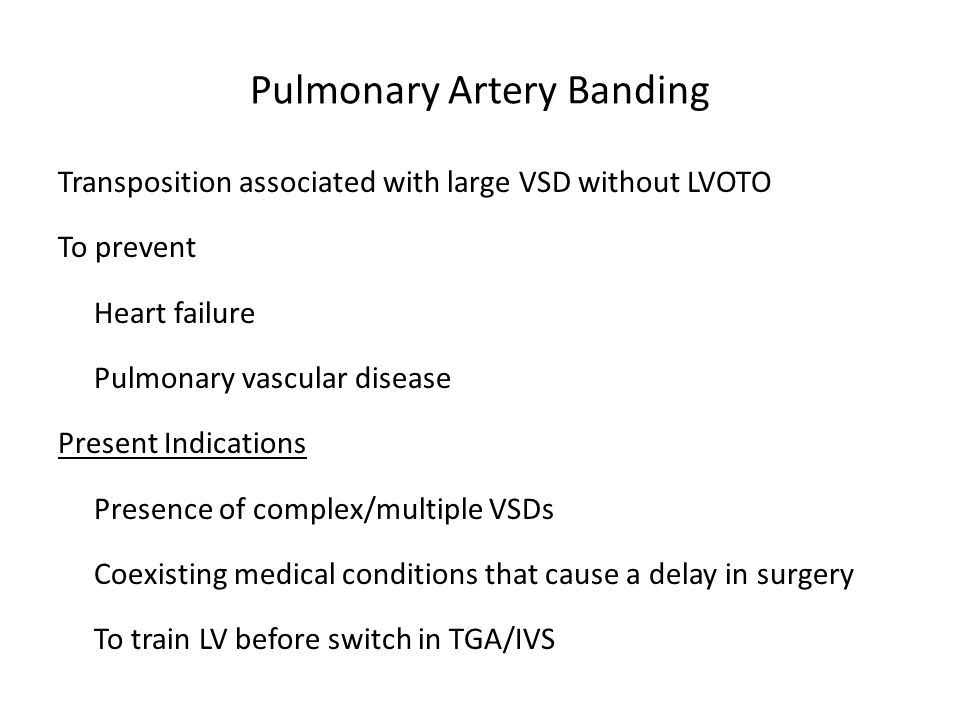 Pulmonary Artery Banding