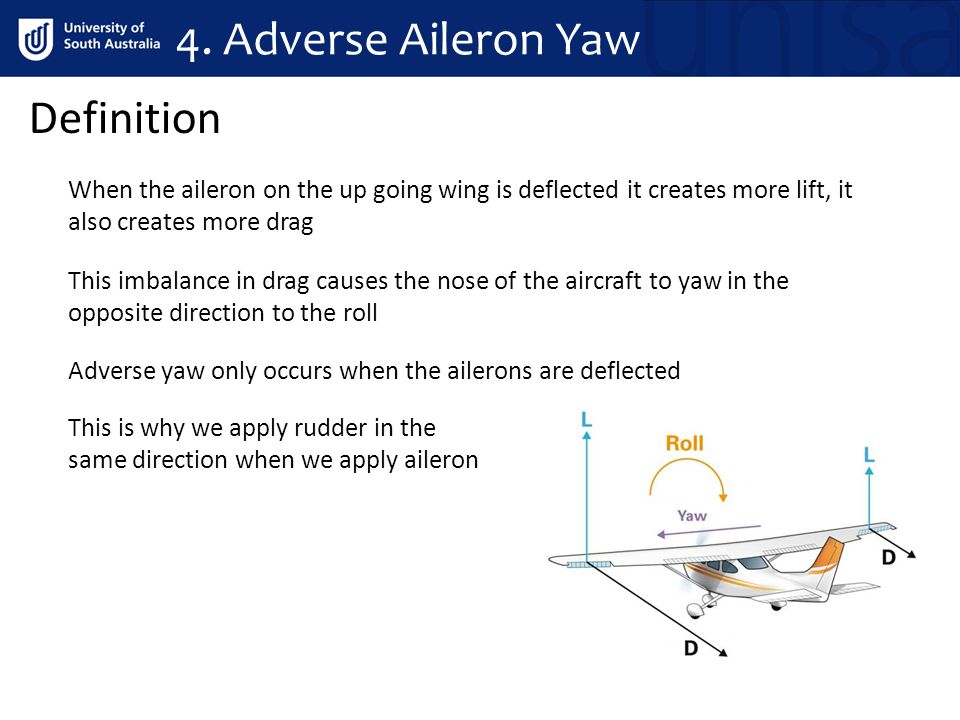 4. Adverse Aileron Yaw Definition