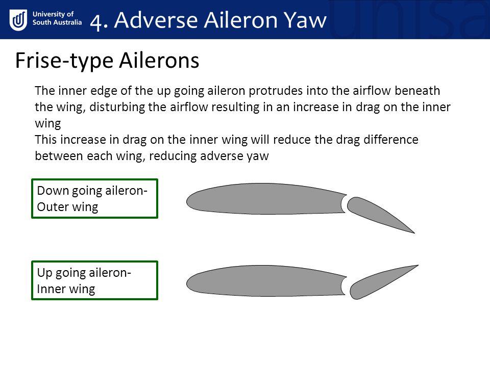 4. Adverse Aileron Yaw Frise-type Ailerons