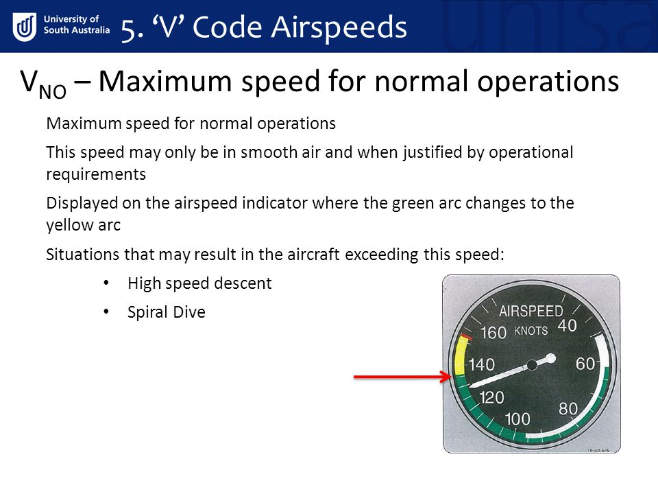 VNO – Maximum speed for normal operations