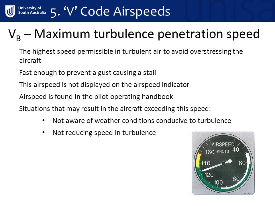 VB – Maximum turbulence penetration speed