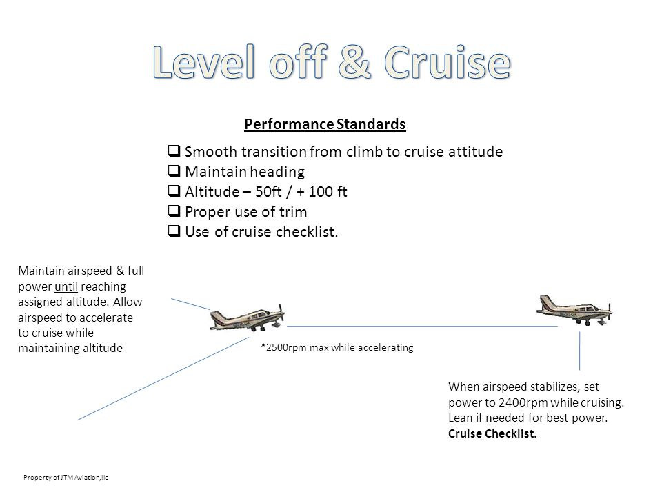 Level off & Cruise Performance Standards