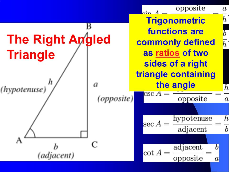 The Right Angled Triangle