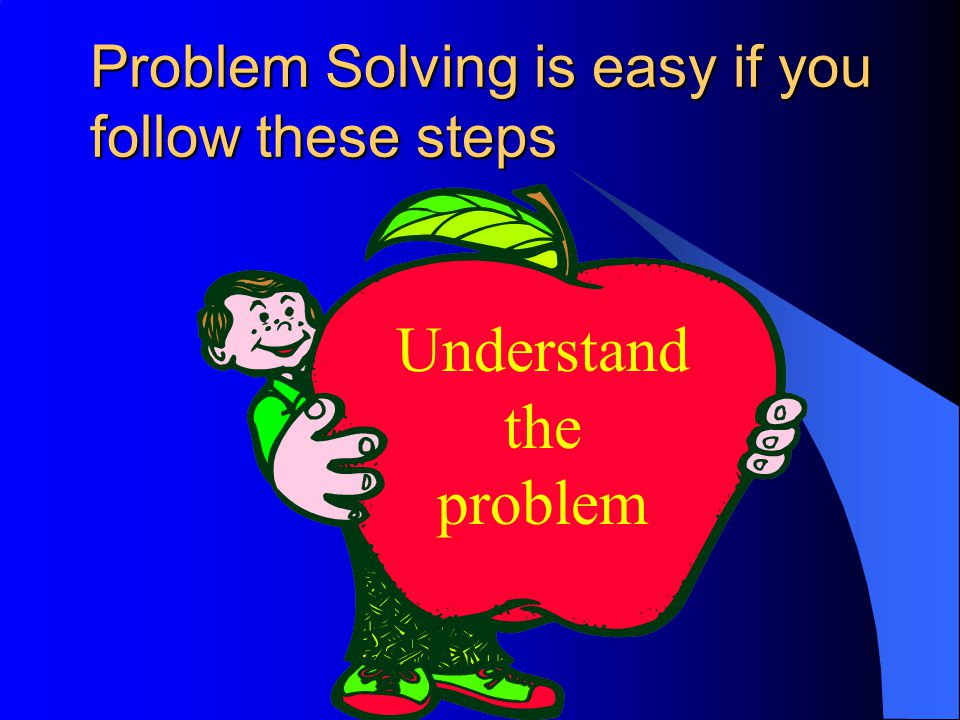 Problem Solving is easy if you follow these steps