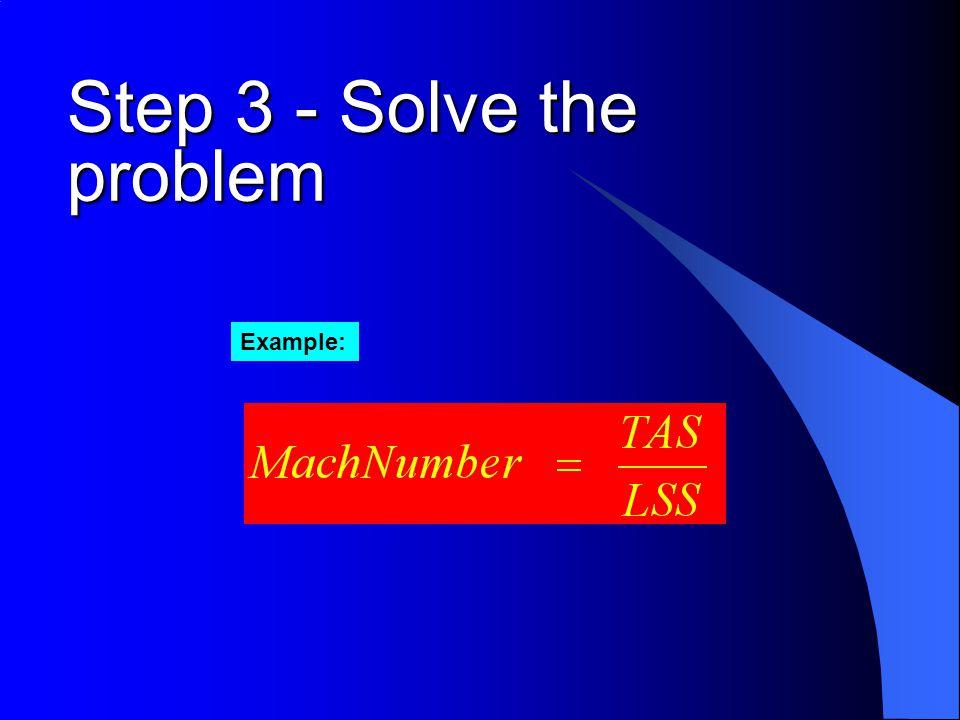 Step 3 - Solve the problem