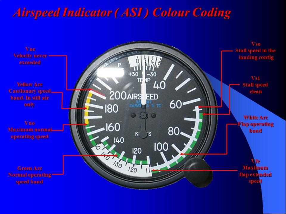 Airspeed Indicator ( ASI ) Colour Coding
