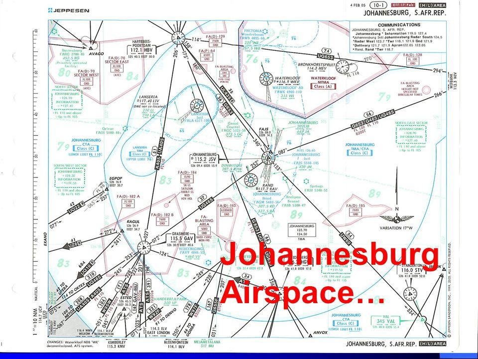 Johannesburg Airspace…