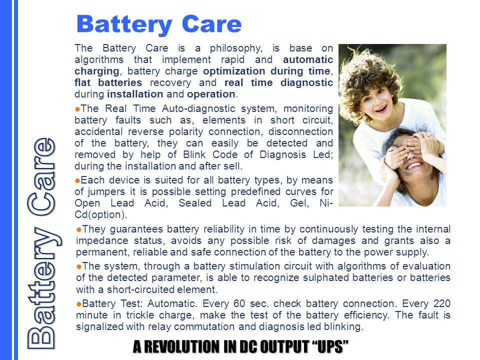 Battery Care Battery Care