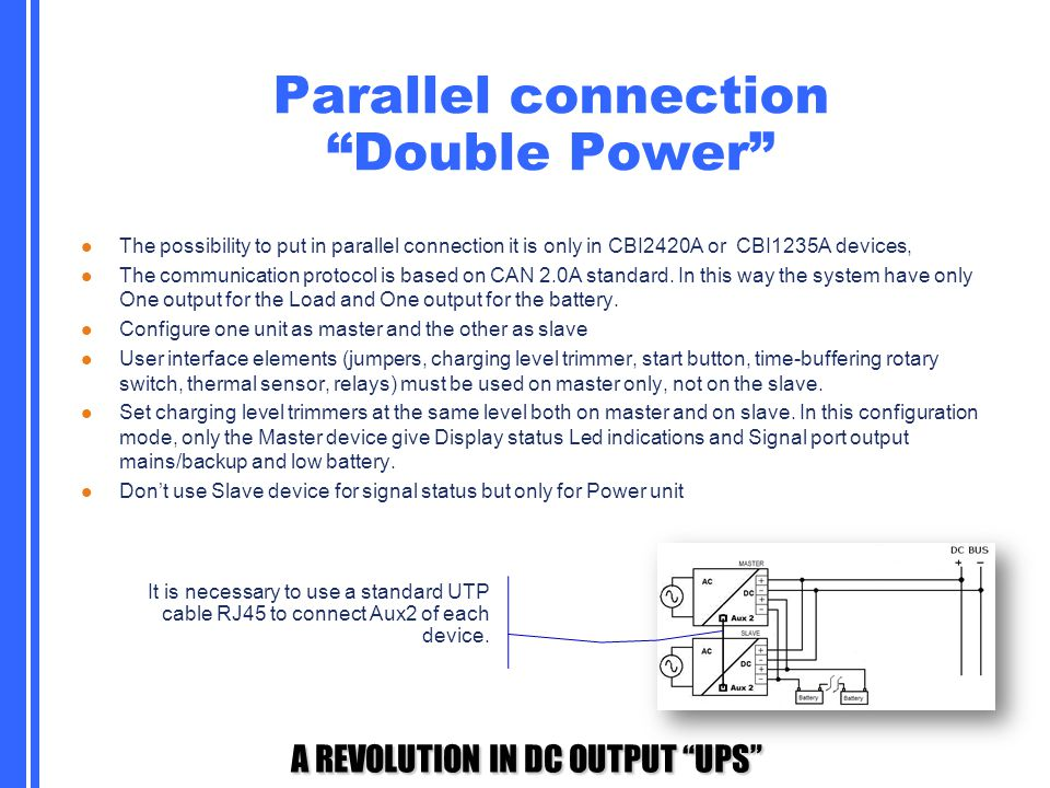 Parallel connection Double Power