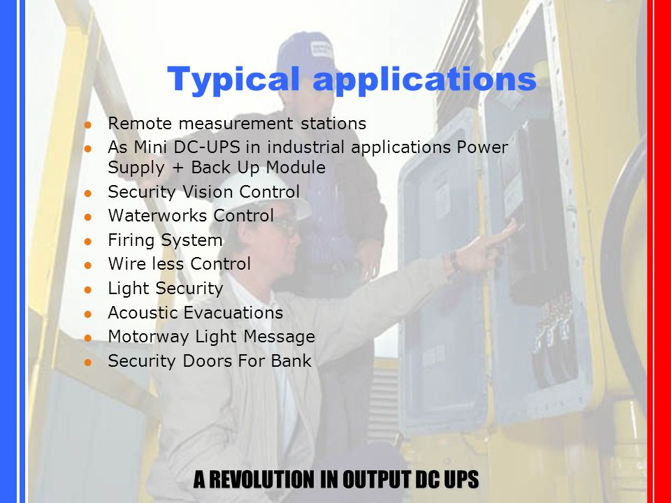 A REVOLUTION IN OUTPUT DC UPS