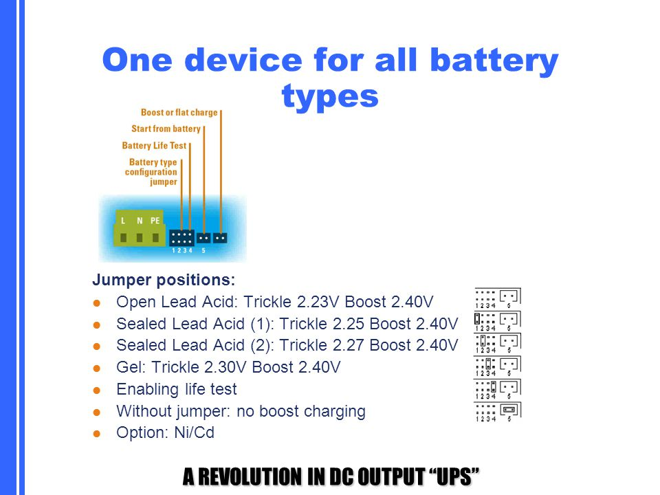 One device for all battery types