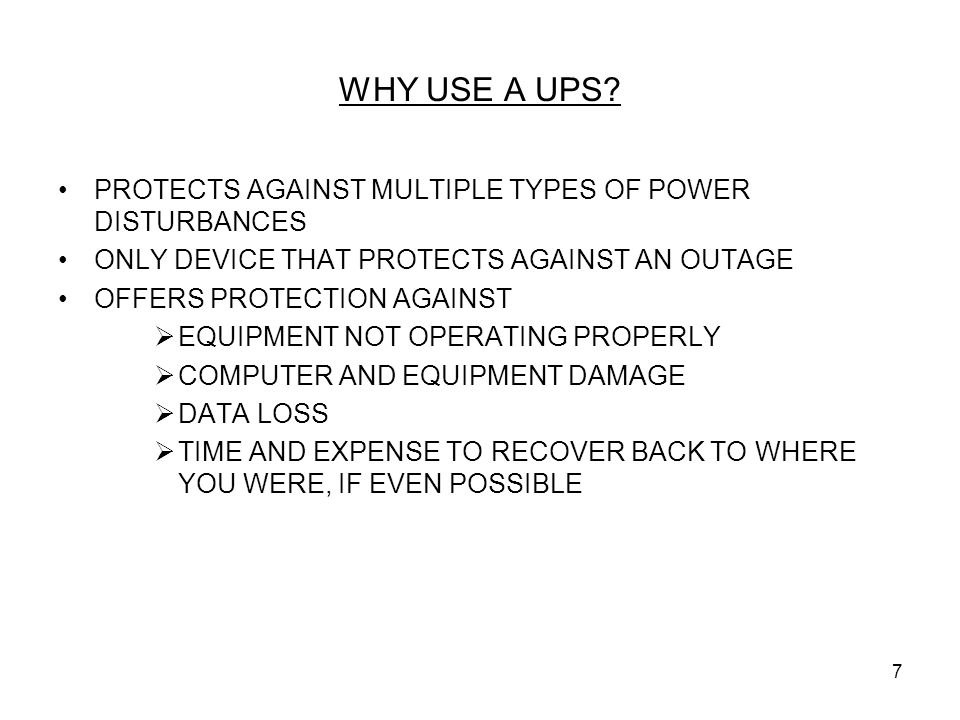 WHY USE A UPS PROTECTS AGAINST MULTIPLE TYPES OF POWER DISTURBANCES