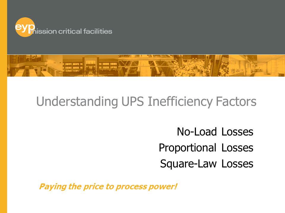 Understanding UPS Inefficiency Factors