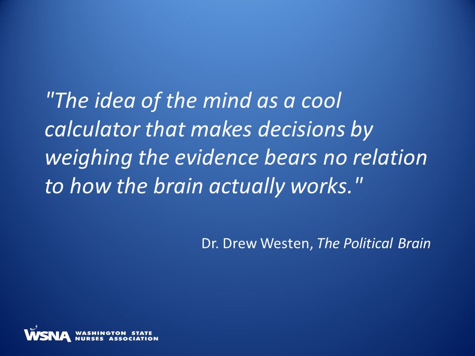 The idea of the mind as a cool calculator that makes decisions by weighing the evidence bears no relation to how the brain actually works.