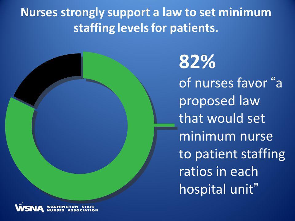 Nurses strongly support a law to set minimum staffing levels for patients.