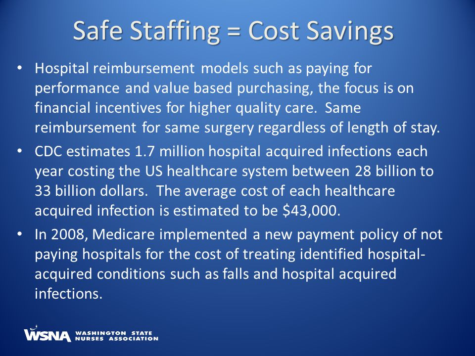 Safe Staffing = Cost Savings