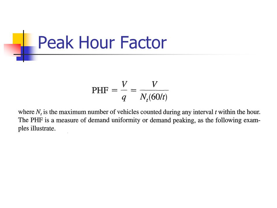 Peak Hour Factor