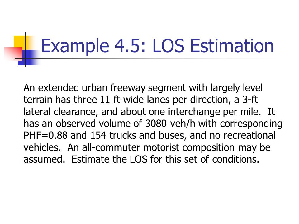 Example 4.5: LOS Estimation
