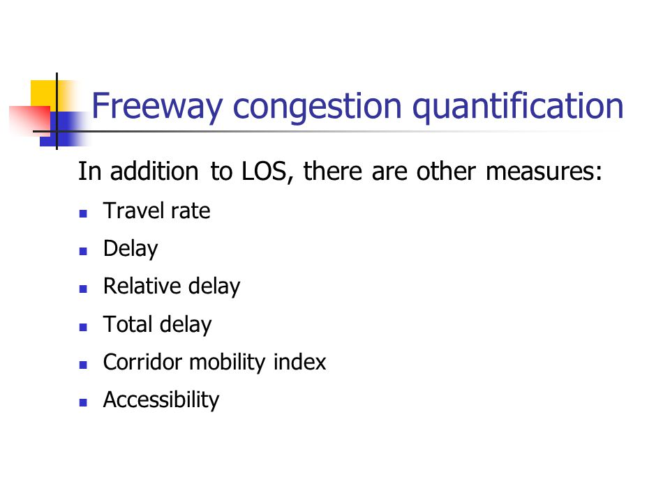Freeway congestion quantification