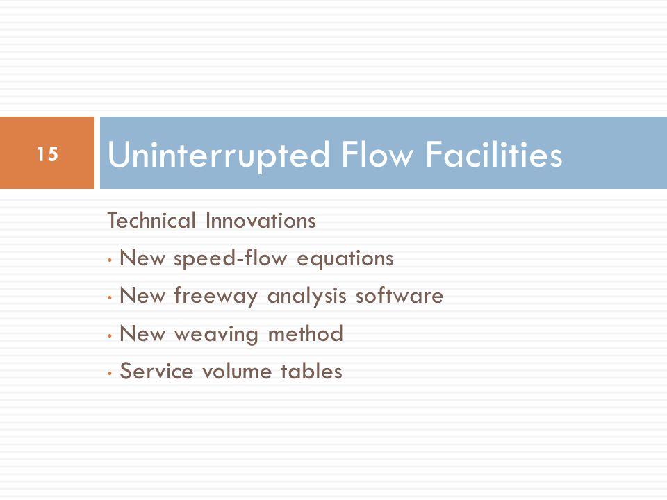 Uninterrupted Flow Facilities