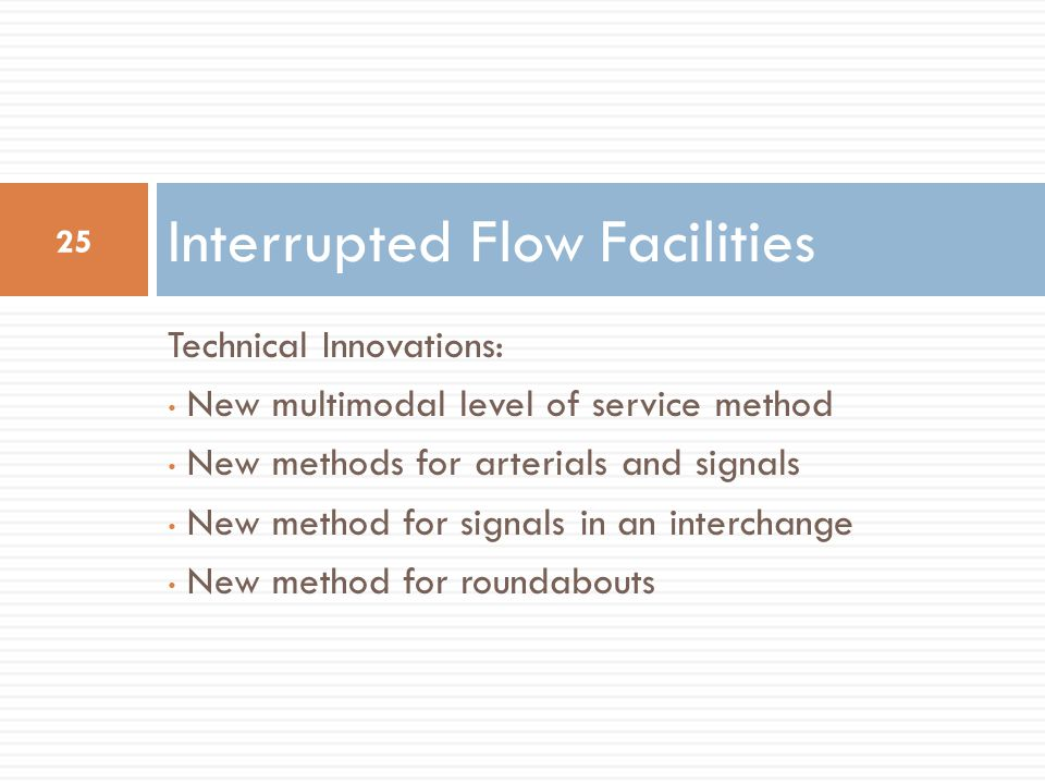 Interrupted Flow Facilities