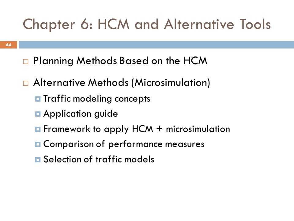 Chapter 6: HCM and Alternative Tools