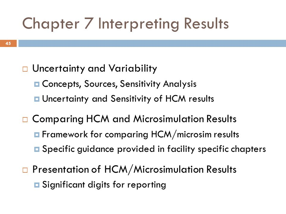 Chapter 7 Interpreting Results