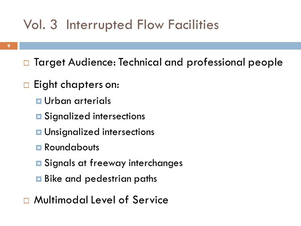 Vol. 3 Interrupted Flow Facilities