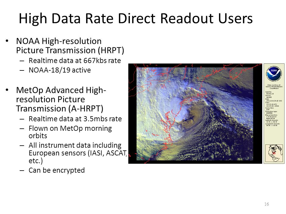 High Data Rate Direct Readout Users