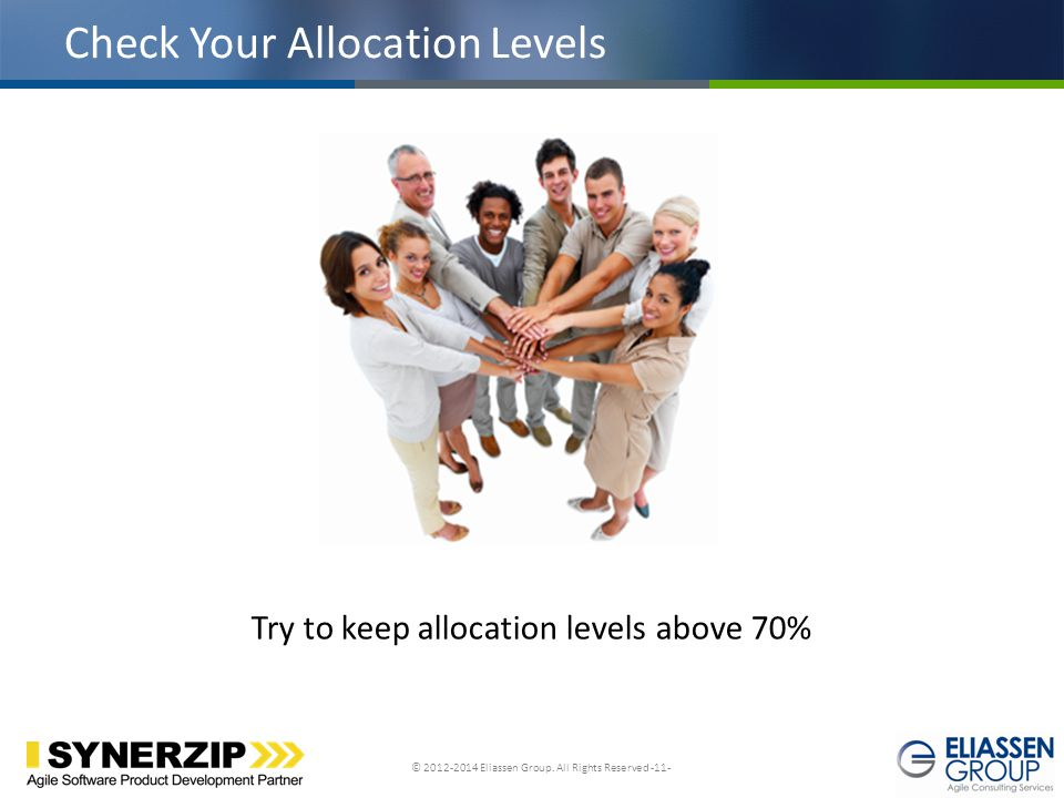 Check Your Allocation Levels