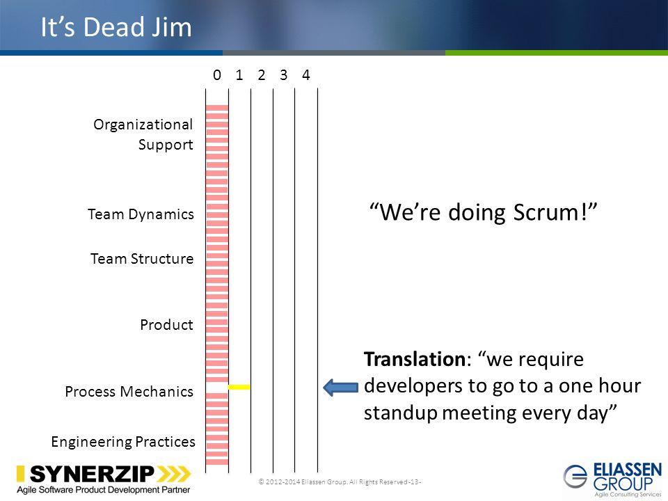 It's Dead Jim We're doing Scrum!