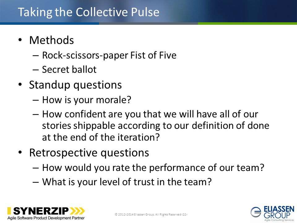 Taking the Collective Pulse