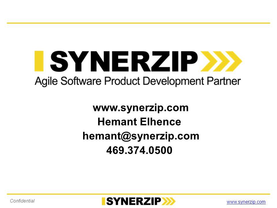 www.synerzip.com Hemant Elhence hemant@synerzip.com 469.374.0500